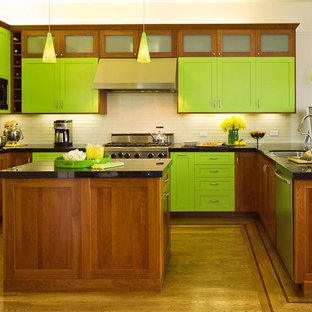 Merveilleux Lime Green Kitchen | Houzz