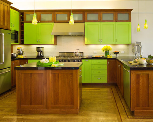 Lime Green Kitchen Home Design Ideas Pictures Remodel
