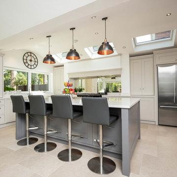 Limestone & Dark Grey Shaker Kitchen