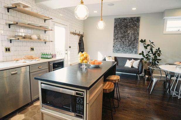 Transitional Kitchen by SuzAnn Kletzien Design