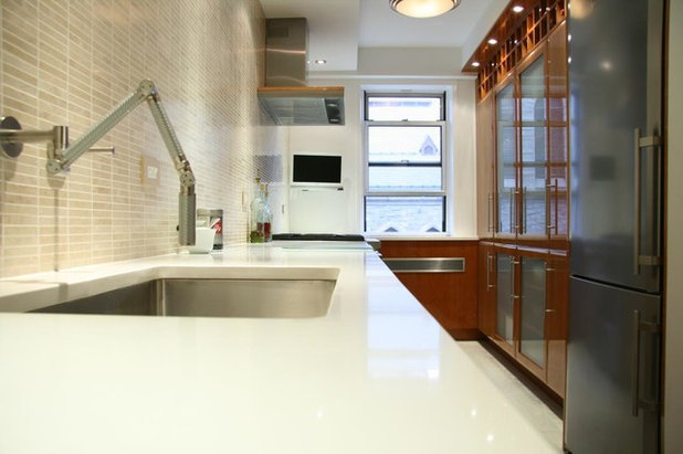Transitional Kitchen by MyHome Design & Remodeling