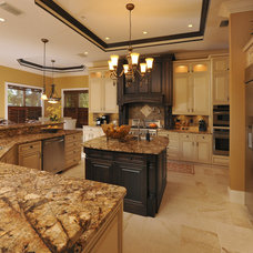Transitional Kitchen by Linda Spry Design Interiors