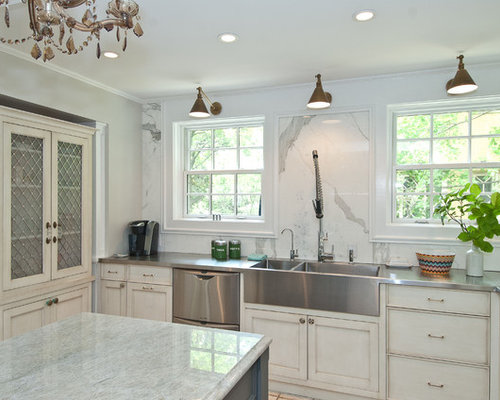 kitchen sink backsplash | houzz
