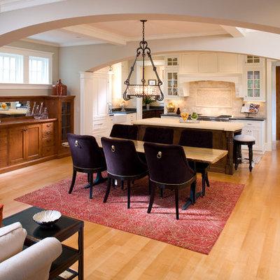 Elegant open concept kitchen photo in Minneapolis