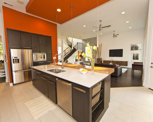 Orange Accent Wall Home Design Ideas Pictures Remodel