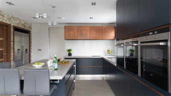 Linear Kitchen with Copper, Sheffield UK