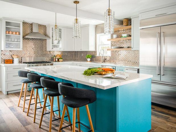 Transitional Kitchen by MMI Design