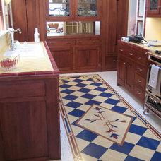 Craftsman Kitchen by Crogan Inlay Floors