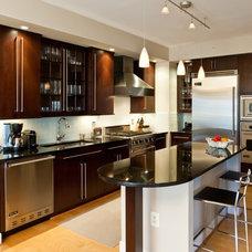 Transitional Kitchen by Marlene Dennis Design