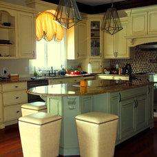Transitional Kitchen by CANDICE ADLER DESIGN LLC