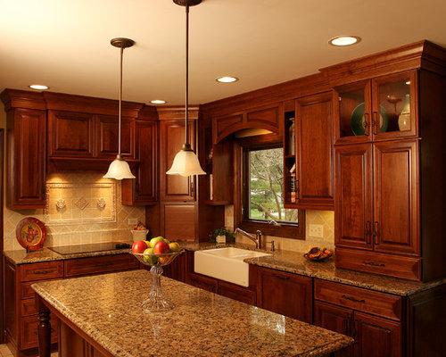 4x4 Tile Backsplash Kitchen Design Ideas Remodel Pictures Houzz