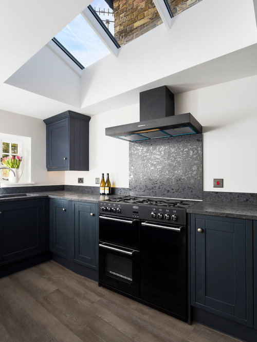 Wren Kitchens Enclosed Kitchen Design Ideas Renovations Photos With Black Appliances