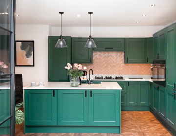 Little Greene painted shaker kitchen
