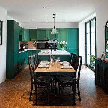 Little Greene painted shaker kitchen