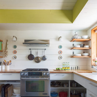 Small Eclectic Enclosed Kitchen Designs   Small Eclectic U Shaped Enclosed  Kitchen Photo In Austin
