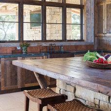 Rustic Kitchen by Cornerstone Architects