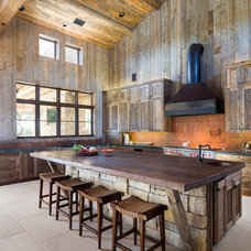 Rustic Kitchen by Cornerstone Architects