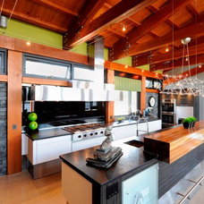 contemporary kitchen by Luxurious Living Studio Inc.
