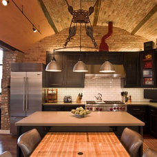 Industrial Kitchen by Besch Design, Ltd.