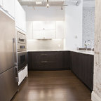 Central Park South Apartment Kitchen Modern Kitchen