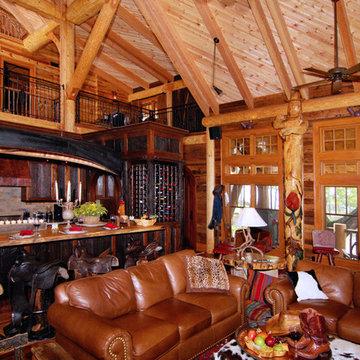 Log and Stone Timber Frame