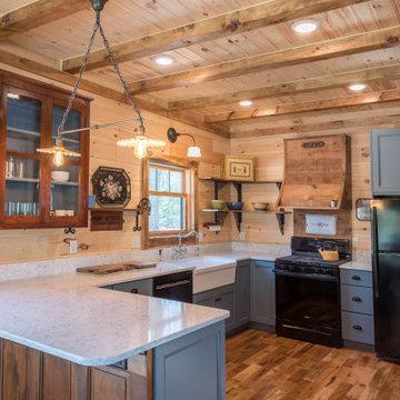 Log Cabin gets a Blue Kitchen