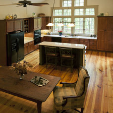 Rustic Kitchen by Clark & Zook Architects, LLC