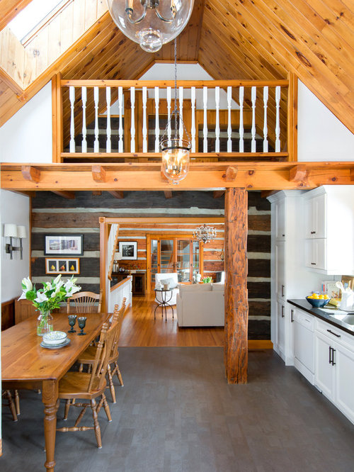 Log cabin kitchens houzz for Kitchen ideas for log homes