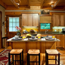 Rustic Kitchen by Leland Interiors, LLC