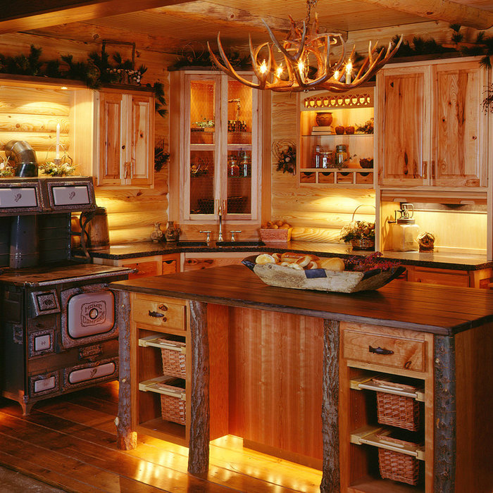 Cowboy Log Cabin Kitchen