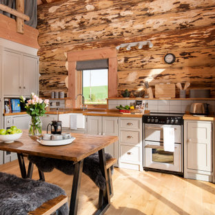 Design ideas for a rustic kitchen in Other.