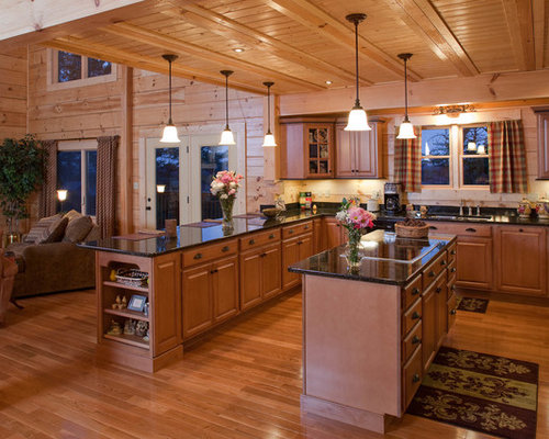 Rustic Butterfly Kitchen Design Ideas, Remodels & Photos