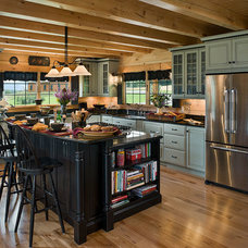 Rustic Kitchen by Coventry Log Homes