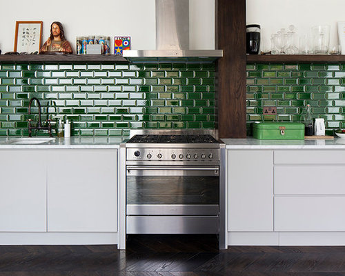 Green Tiles Kitchen Home Design Ideas Renovations & s