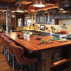 rustic kitchen by Lohss Construction