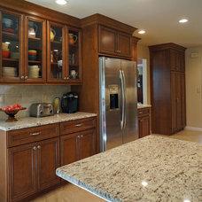 Transitional Kitchen by Homefront Design Studio