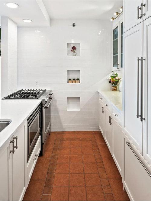 terracotta kitchen floor transitional - photo #10