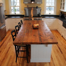 Transitional Kitchen by Longleaf Lumber Inc
