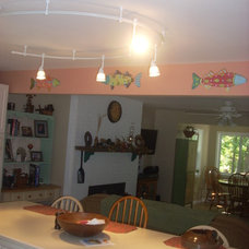 Eclectic Kitchen Looking Up