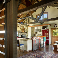 Rustic Kitchen by Graham Baba Architects