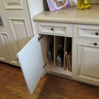 Kitchen Cabinets Upgrade To Glide Outs Traditional