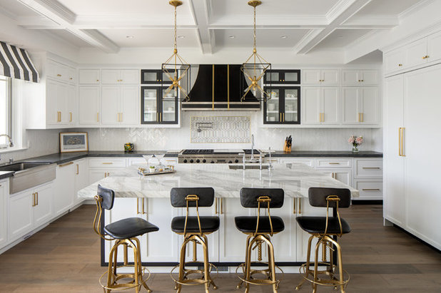 Transitional Kitchen by Christine Kimberlee Designs