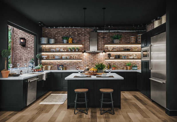 Industrial Kitchen by Black Orchid Design, Inc.