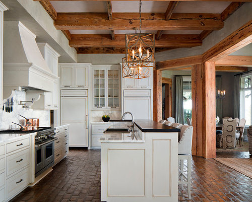 Kitchen Idea In New Orleans With Beaded Inset Cabinets White Cabinets
