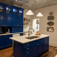 Farmhouse Kitchen by Elmwood Fine Custom Cabinetry