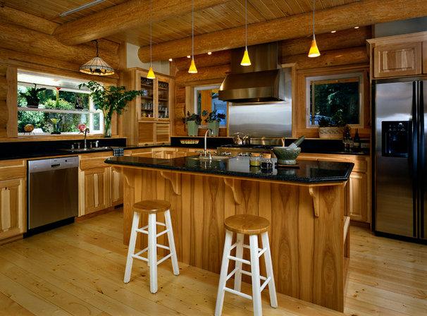 Traditional Kitchen by Sam Van Fleet Photography