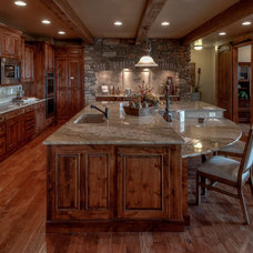 Rustic Kitchen Countertops by PLANET GRANITE