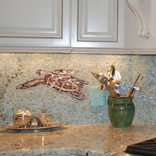 Beach Style Kitchen by Rose Aten Design LLC