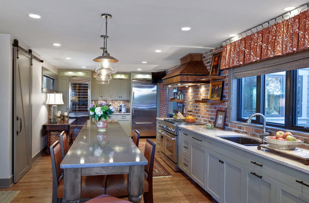 Transitional Kitchen by Robert Paige Cabinetry LLC
