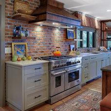 Transitional Kitchen by K & K Custom Cabinets LLC
